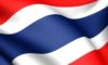 Flag of Thailand. Close up. Front view.